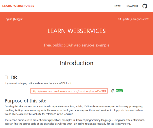 Learn webservices site